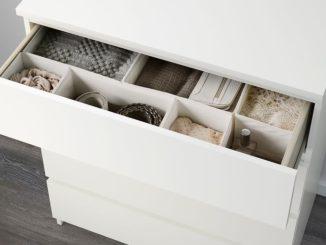 IKEA MALM Kommode mit Schubladen, weiß